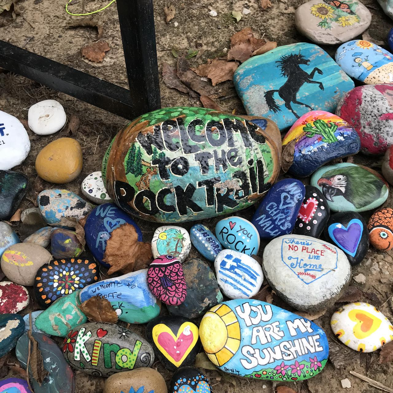rocks welcoming you to the Rock Art Trail