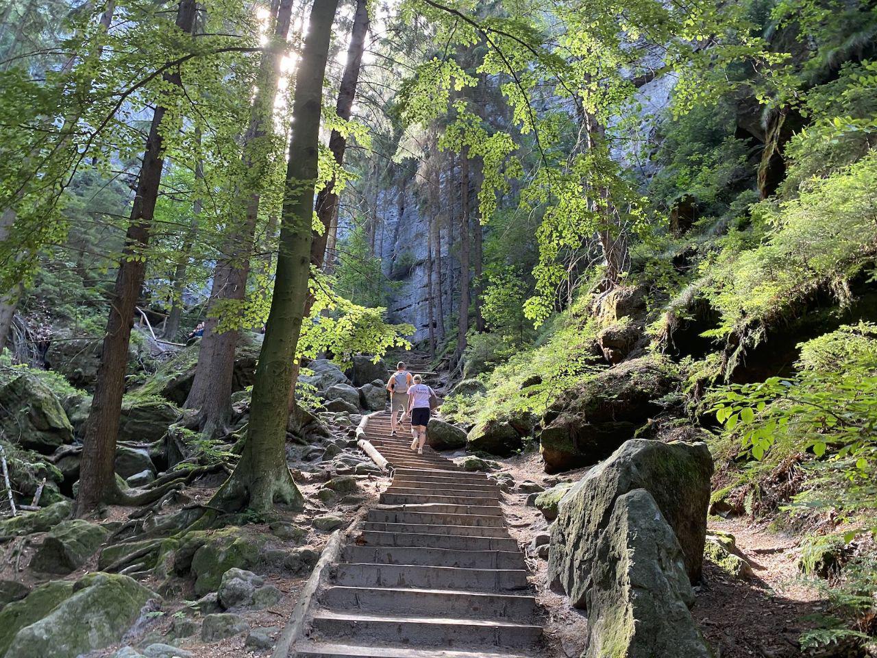 Painters way in Saxon Switzerland national park