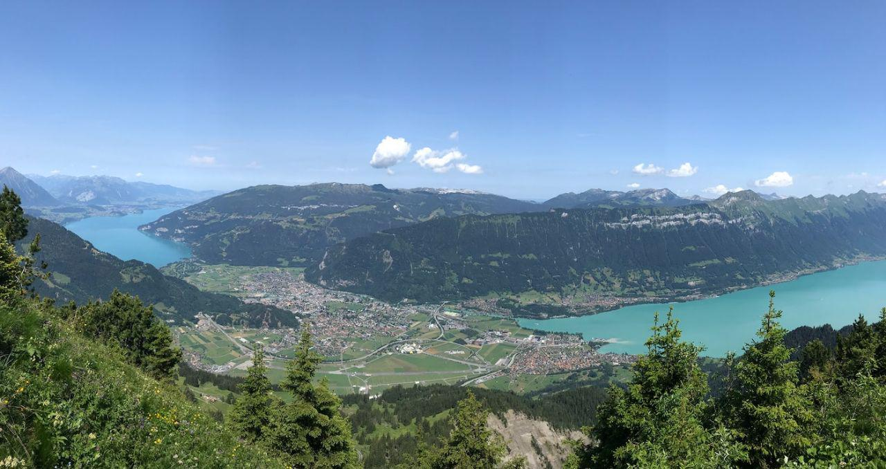 Interlaken view from mountain