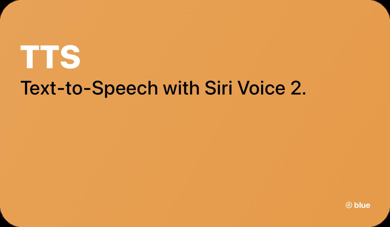 Siri TTS
