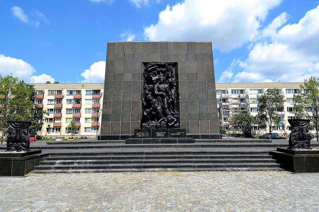 Monument to the Ghettos, Warsaw, Poland