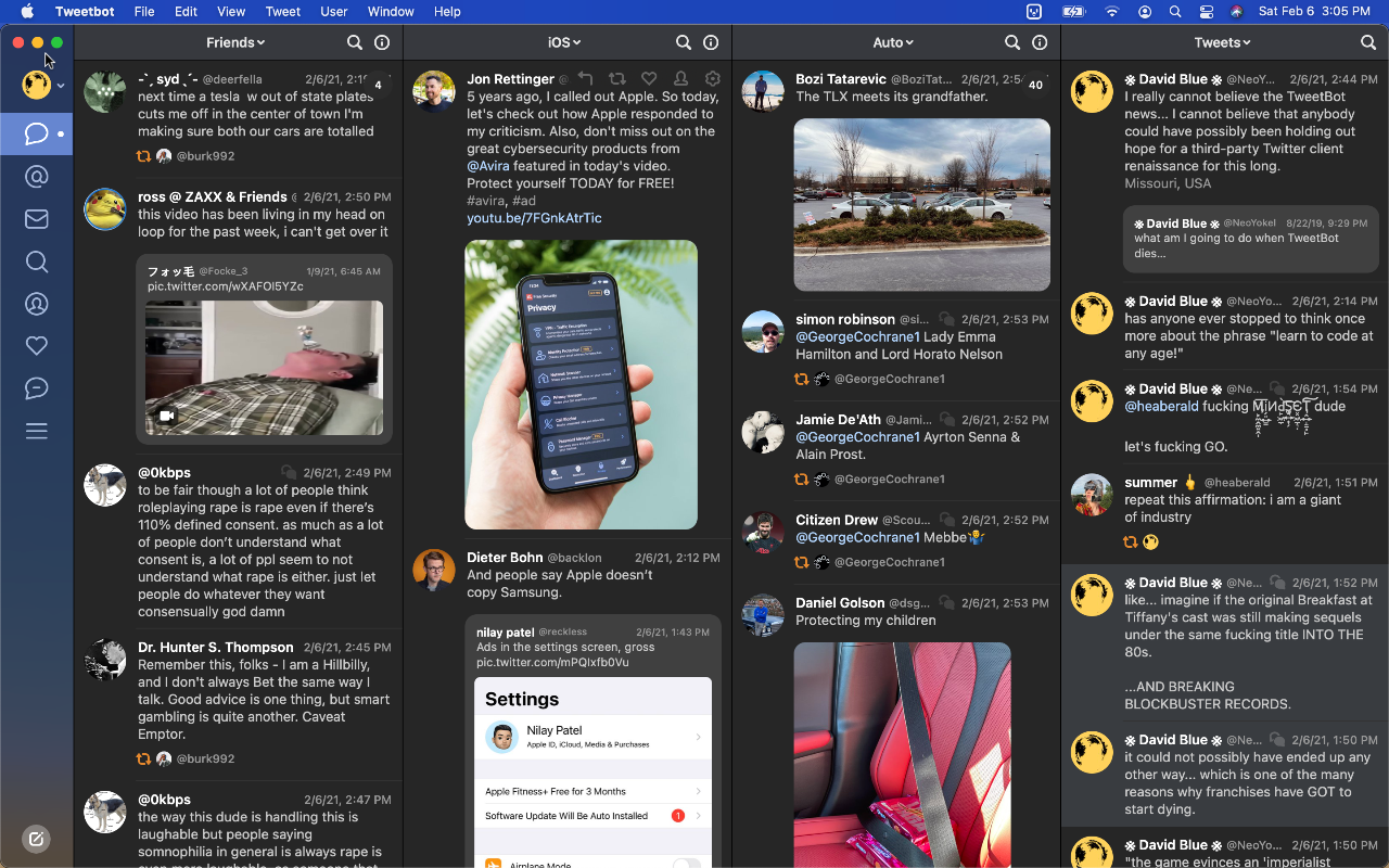 Tweetbot 3 for MacOS Version 3.5.2