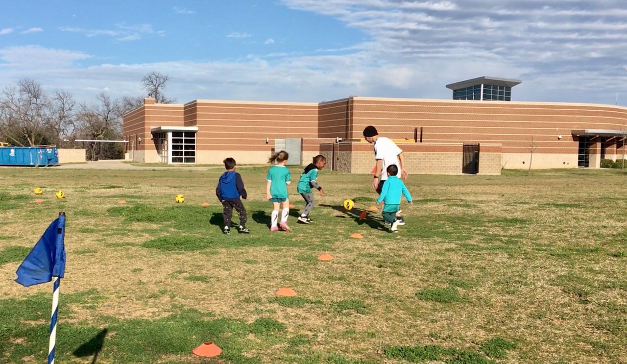Davin at soccer class
