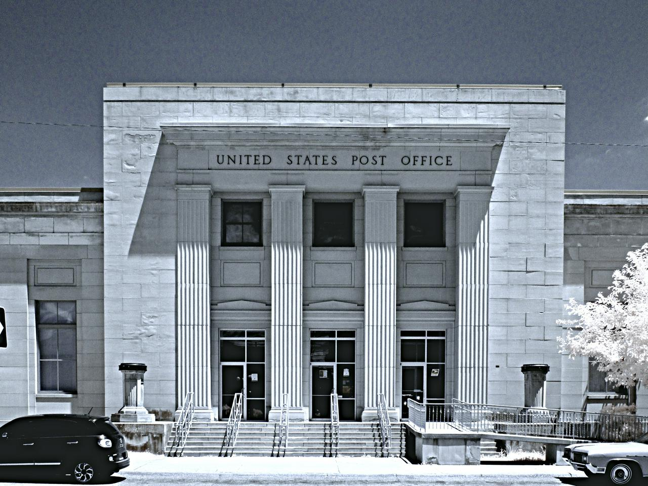 Exterior shot of post office