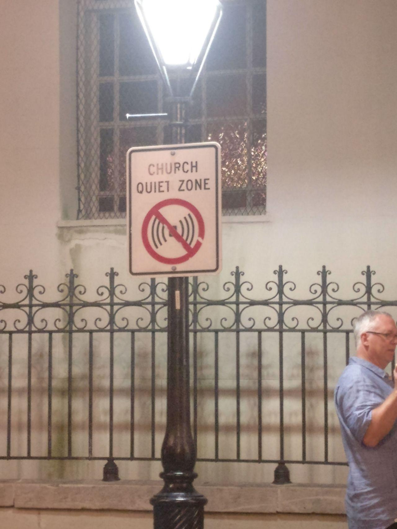 church quiet zone