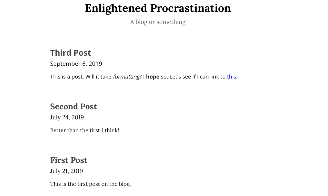 Example blog in the Blog format