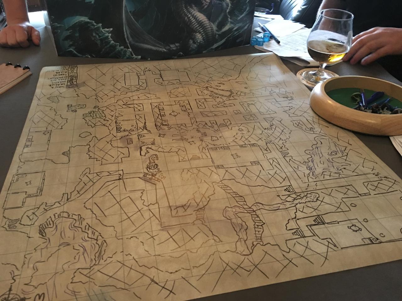 Hand-drawn map
