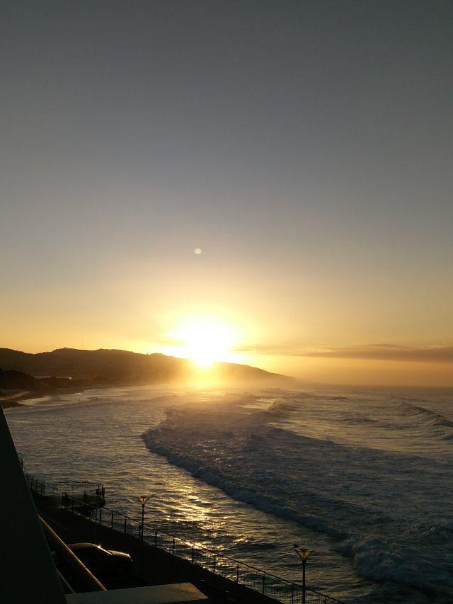 Sunrise on an early winter morning in Dunedin, NZ
