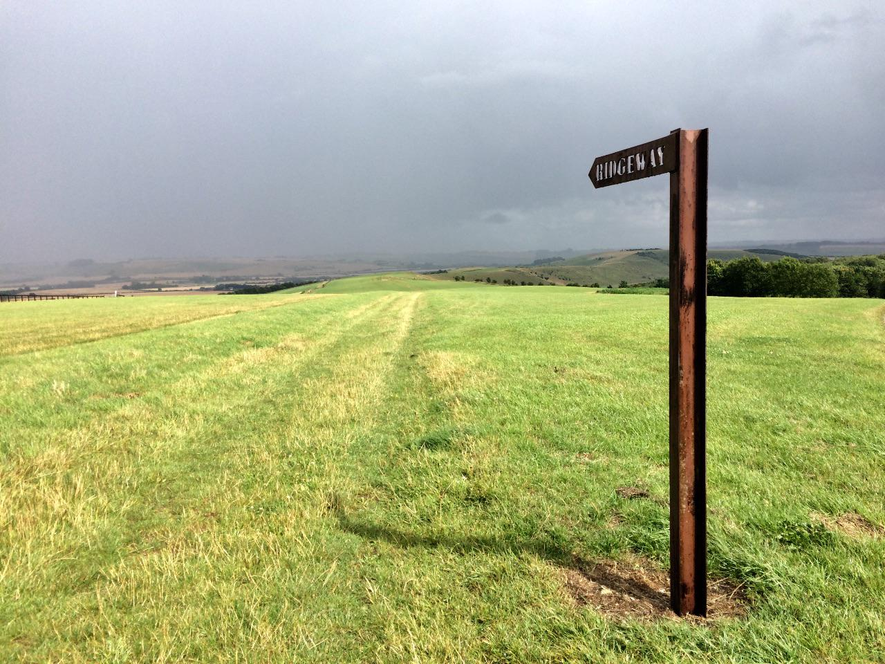 Signpost points along the Ridgeway National Trail