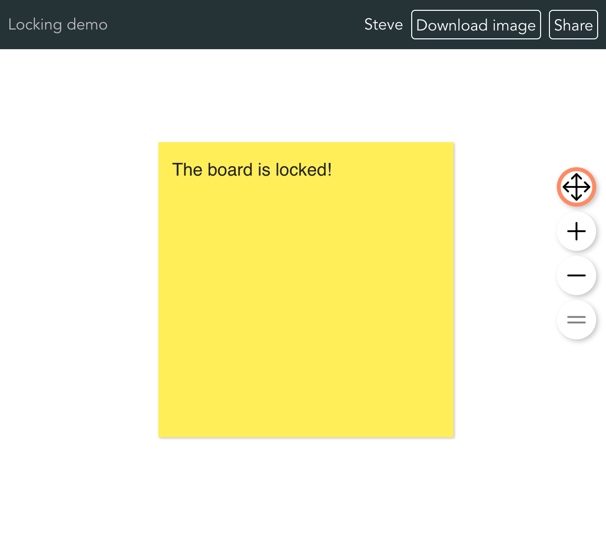 Screenshot of contributor's read-only screen