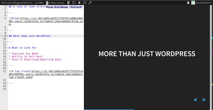 Building slides with Hacker Slides