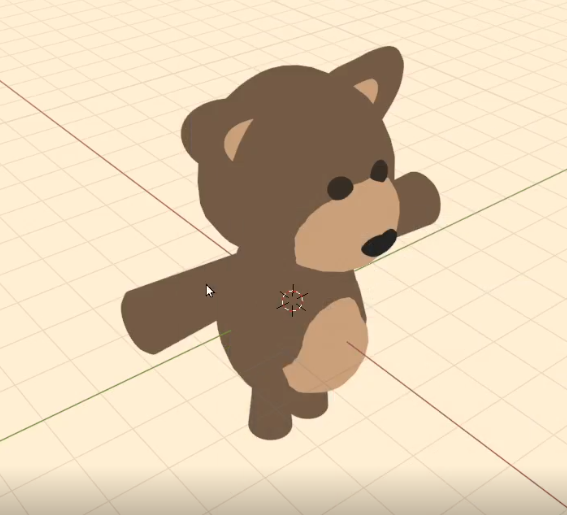 The teddy bear I modeled, rigged and animated using Blender.