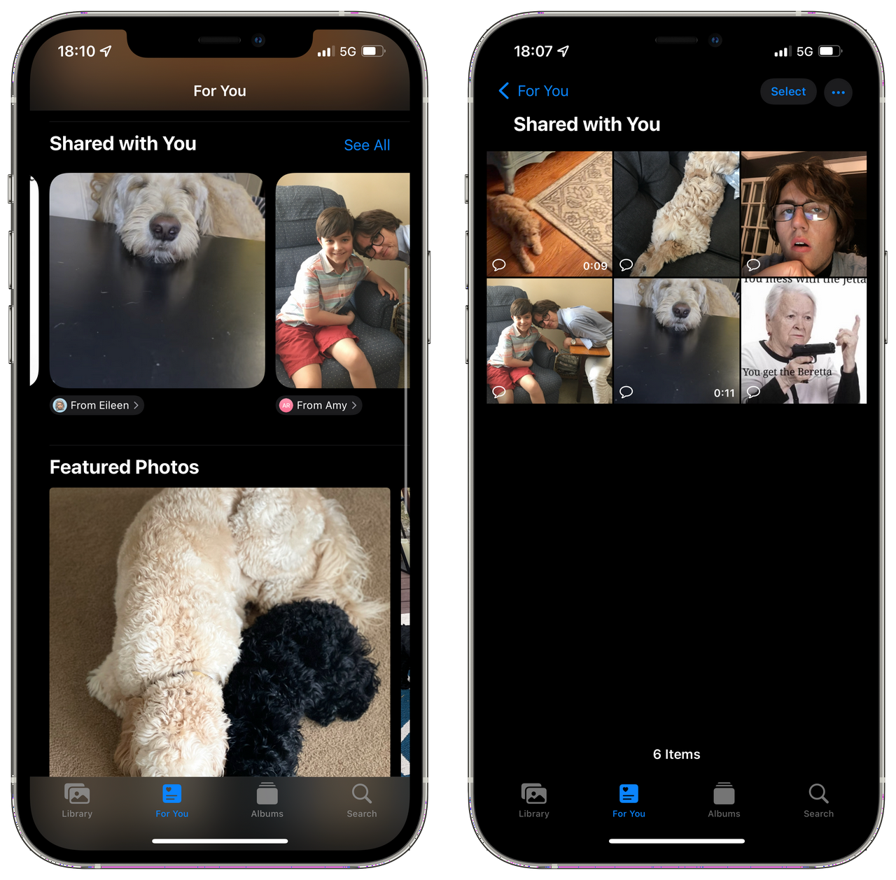 Shared With You - Photos App in iOS 15