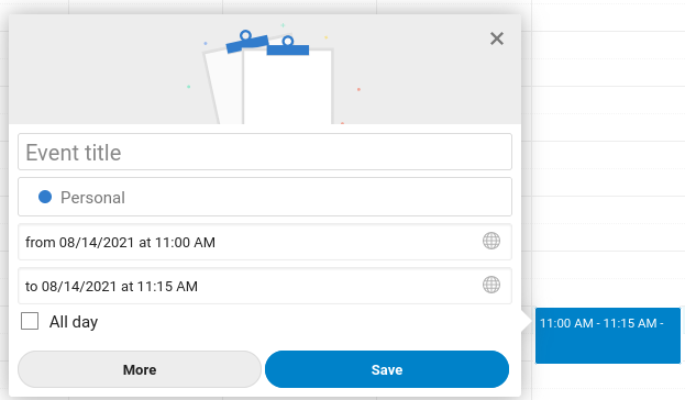 Adding an event to Nextcloud Calendar
