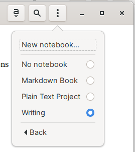 Adding a note to a notebook in Gnote