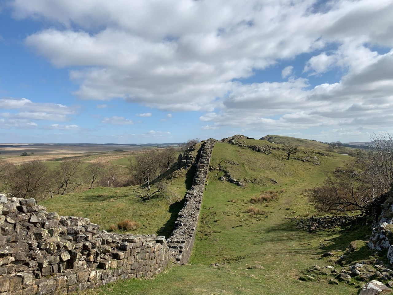 View of Hadrian's Wall looking East towards Turret 45a