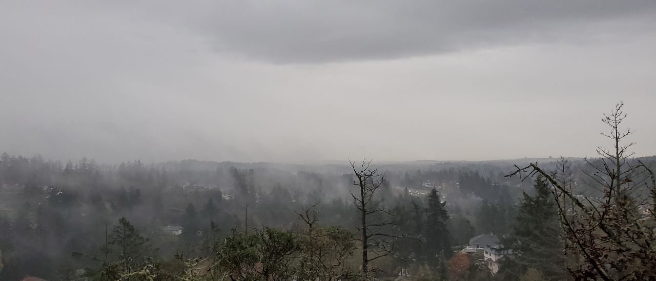 rainy cloudy smoke spot