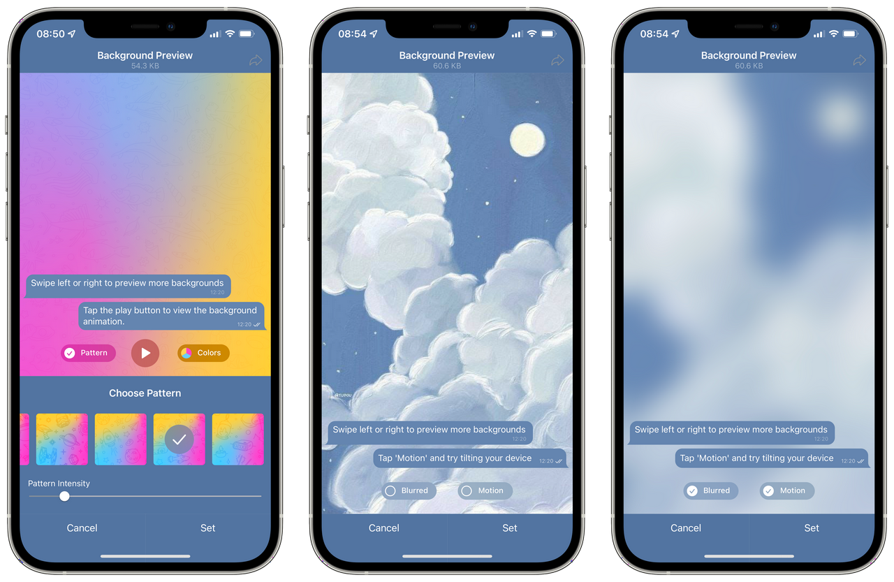 Patel Clouds Theme in the Chat Background Tool
