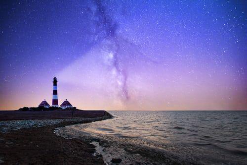 Lighthouse lightning stars