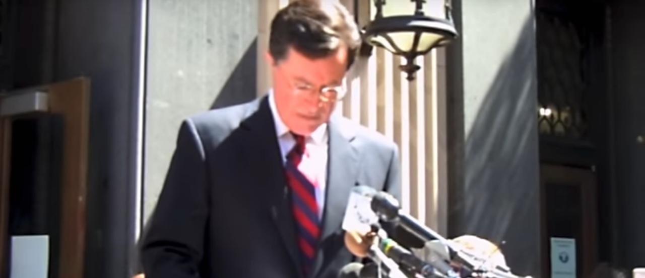 Picture of Stephen Colbert speaking