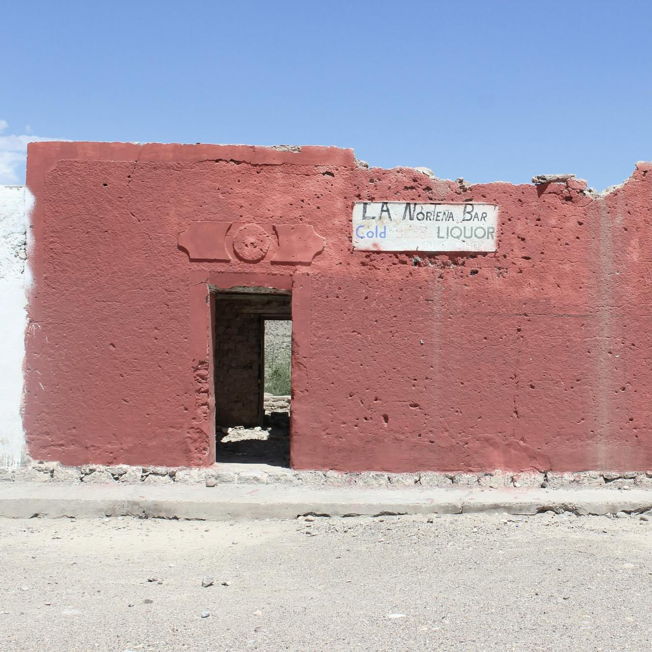 An abandoned bar in Boquillas, Mexico