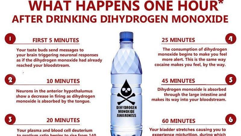 Warning against Dihydrogen Monoxide