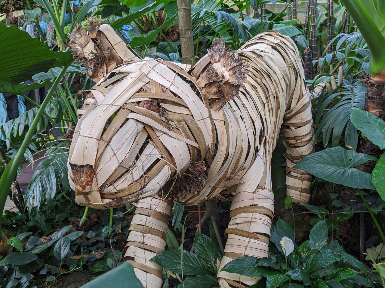 Bamboo tiger friend at Kew Orchid Festival