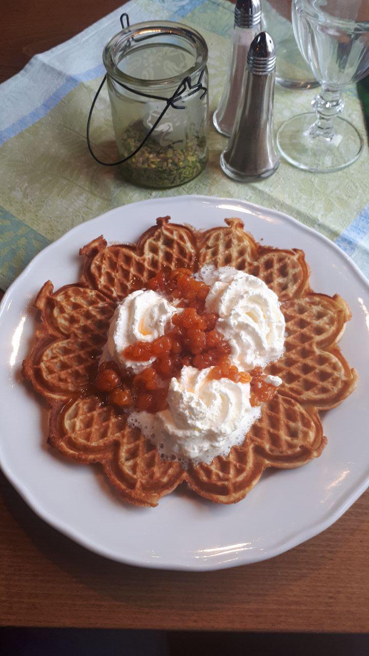 Cloudberry waffle