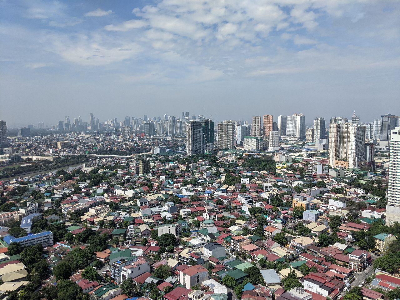 An aerial view of Metro Manila (Pasig City, Mandaluyong and Makati)