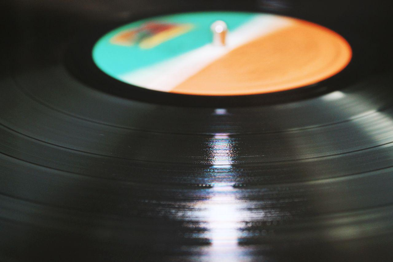 A Vinyl Record placed on a Turntable
