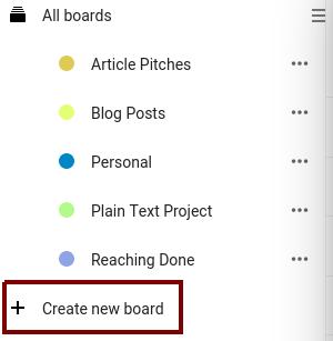 Creating a new board in Nextcloud Deck