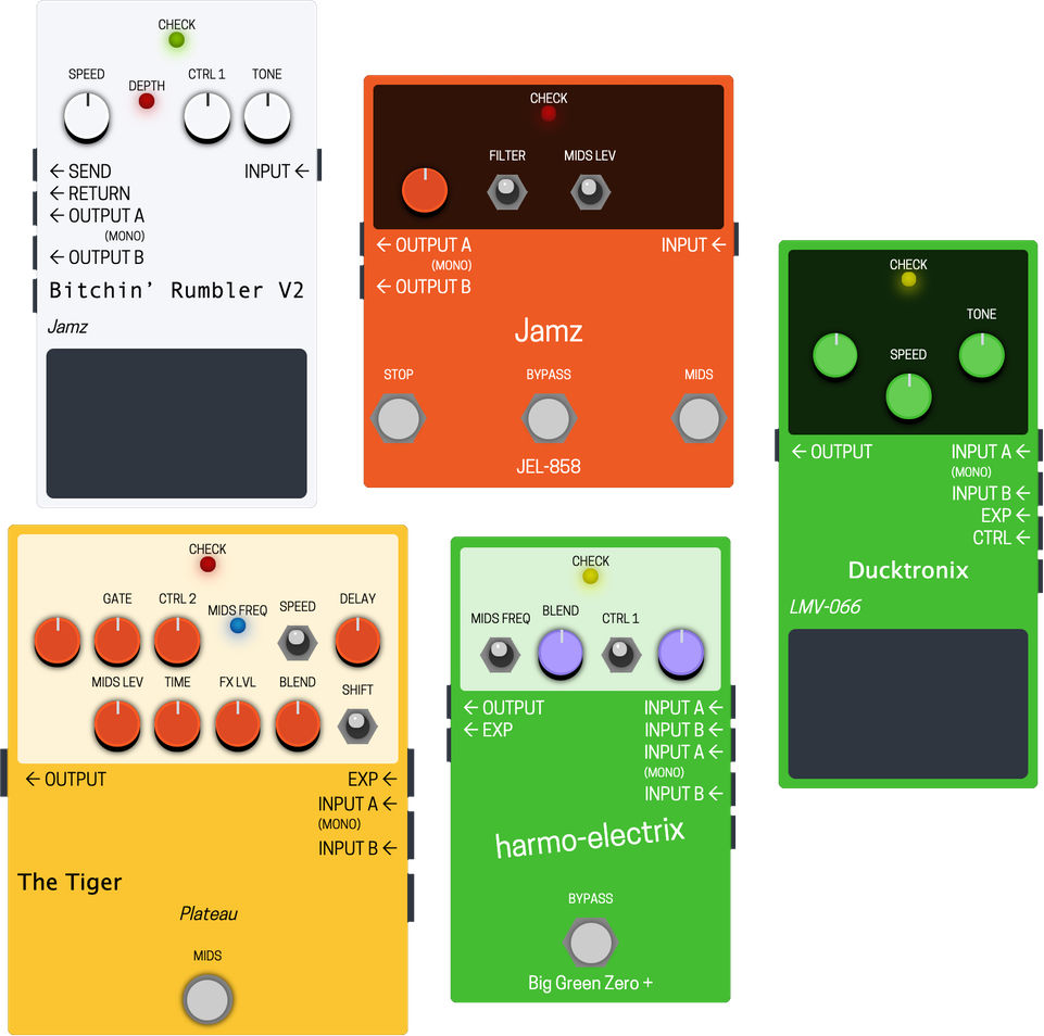 Examples of pedals