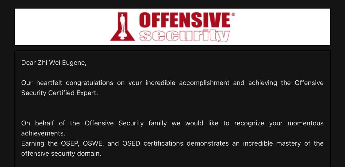 OSCE3 Certification