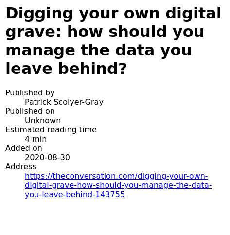 The first page of an article in an EPUB