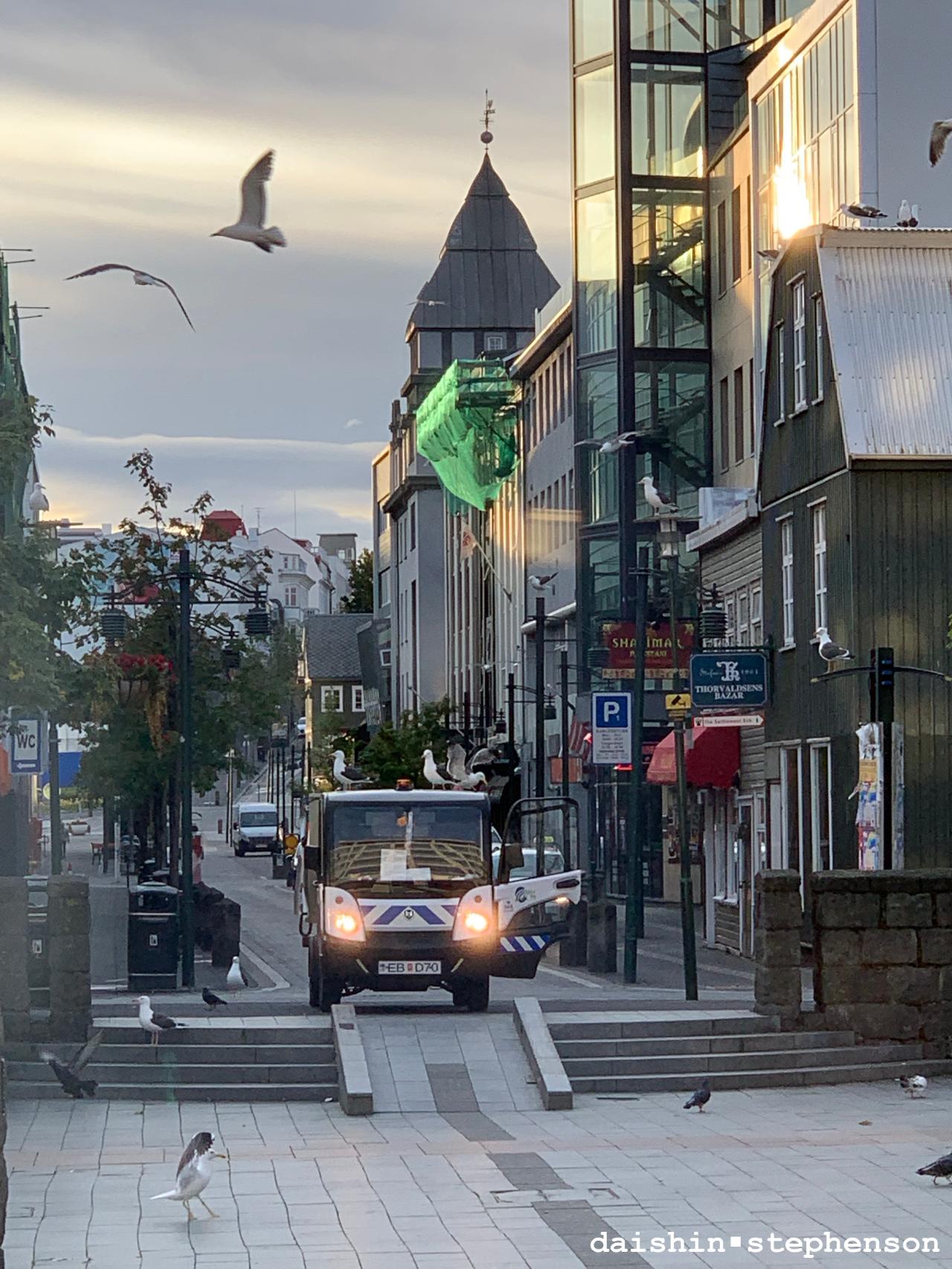 plaza square in reykjavik, iceland