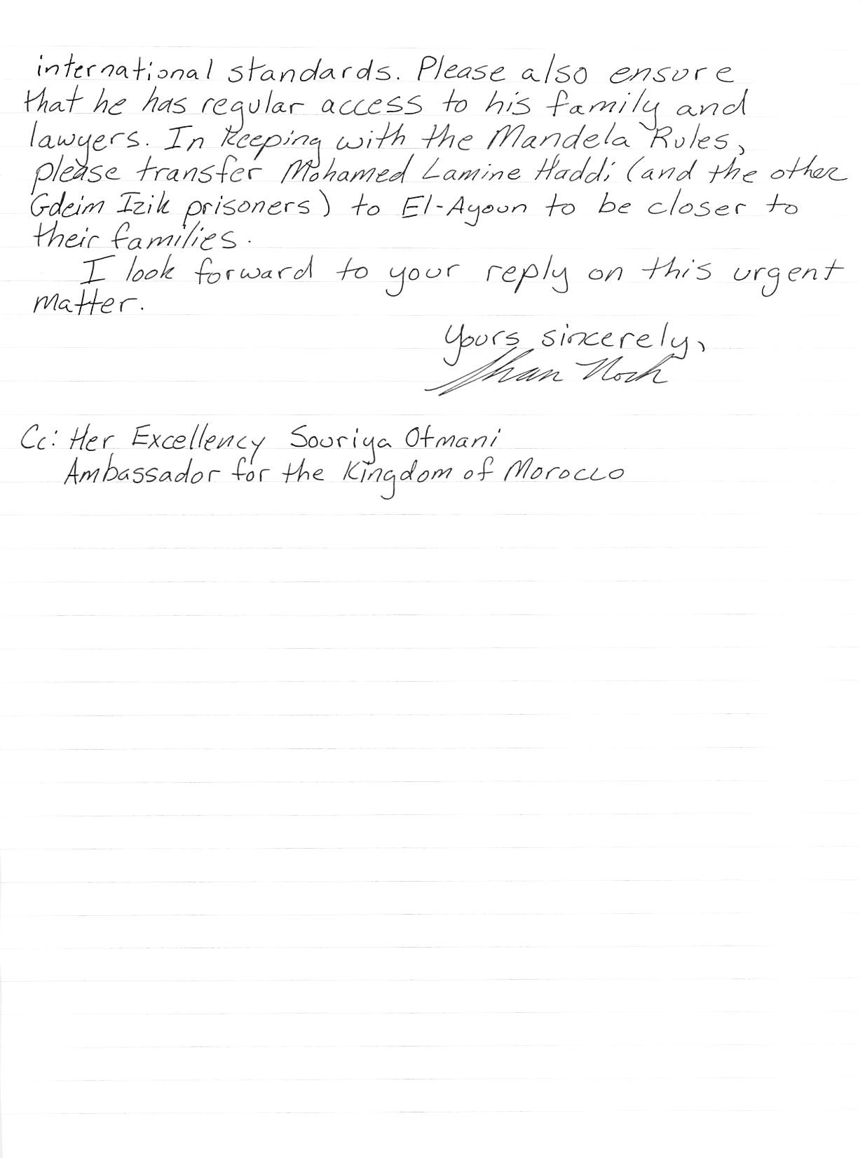 hand-written letter, page 2