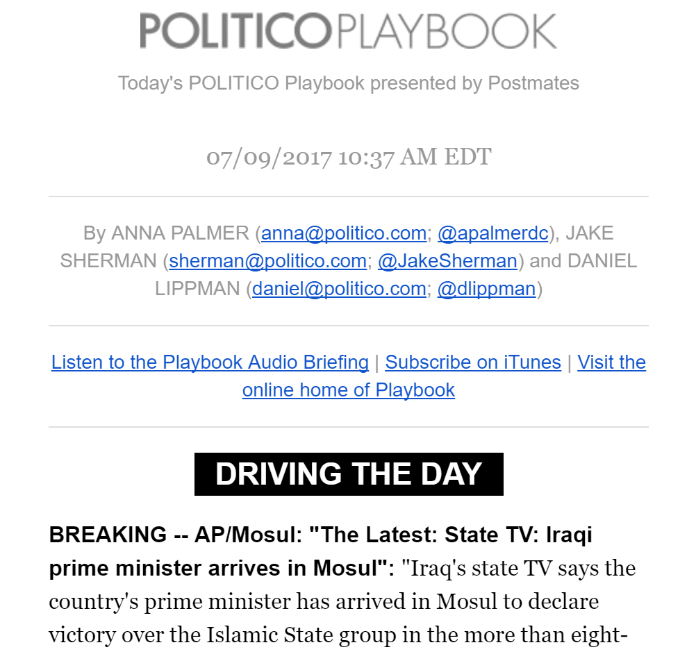 POLITICO Playbook