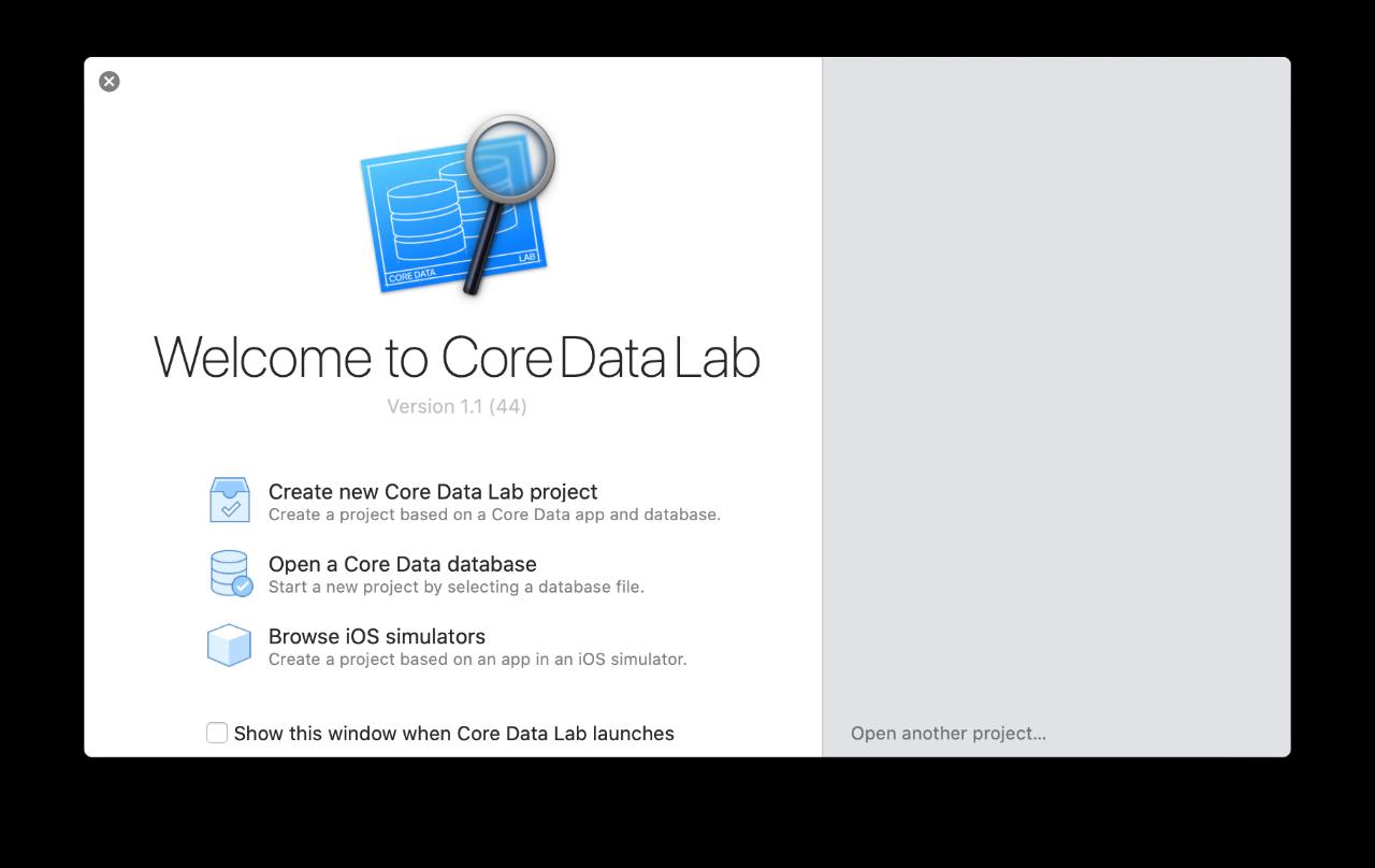 CoreDataLab intro screen