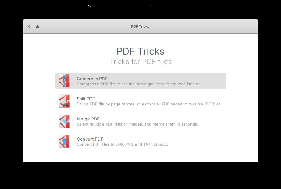 PDF Tricks after you start it