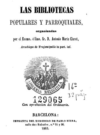 Las bibliotecas populares y parroquiales