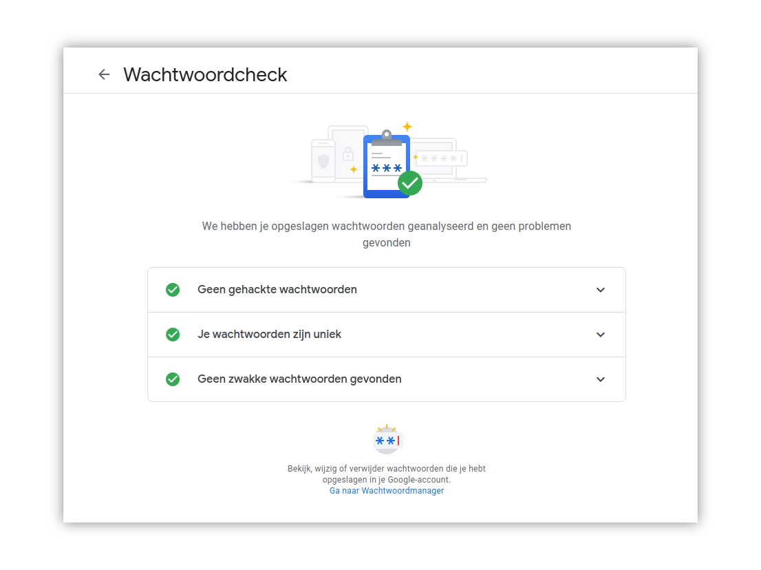 Google wachtwoordcheck