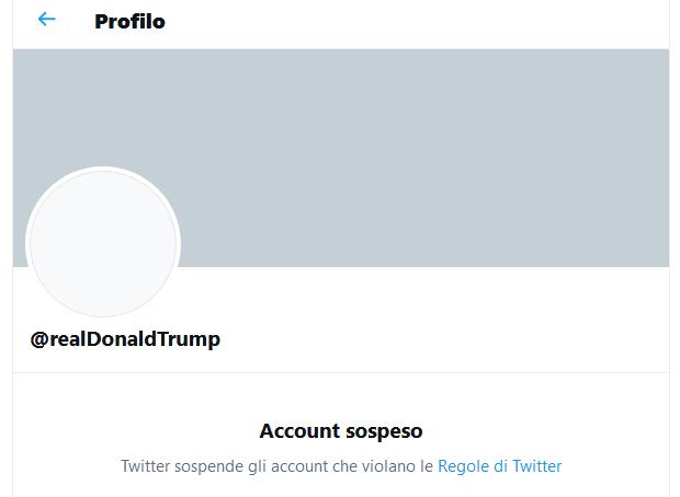 Account Twitter Donald Trump