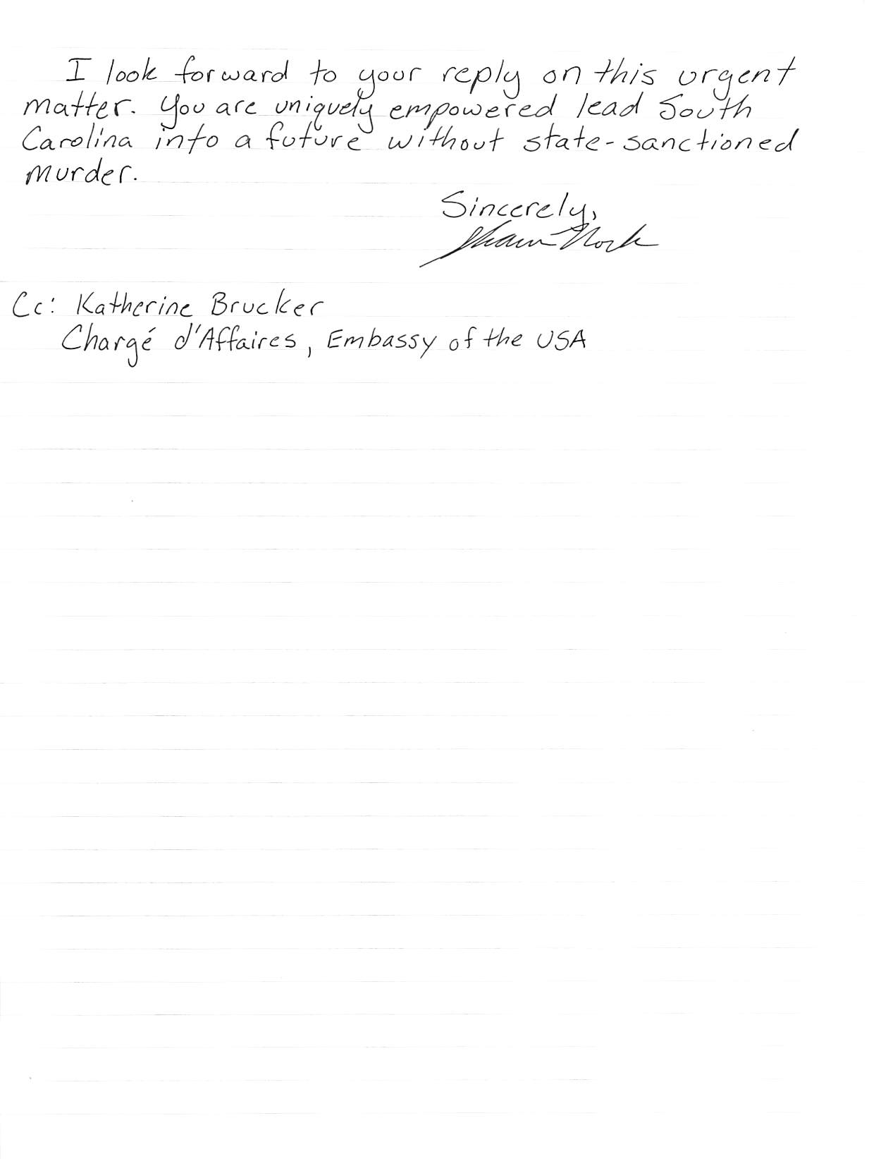 handwritten letter, page 2, transcript follows