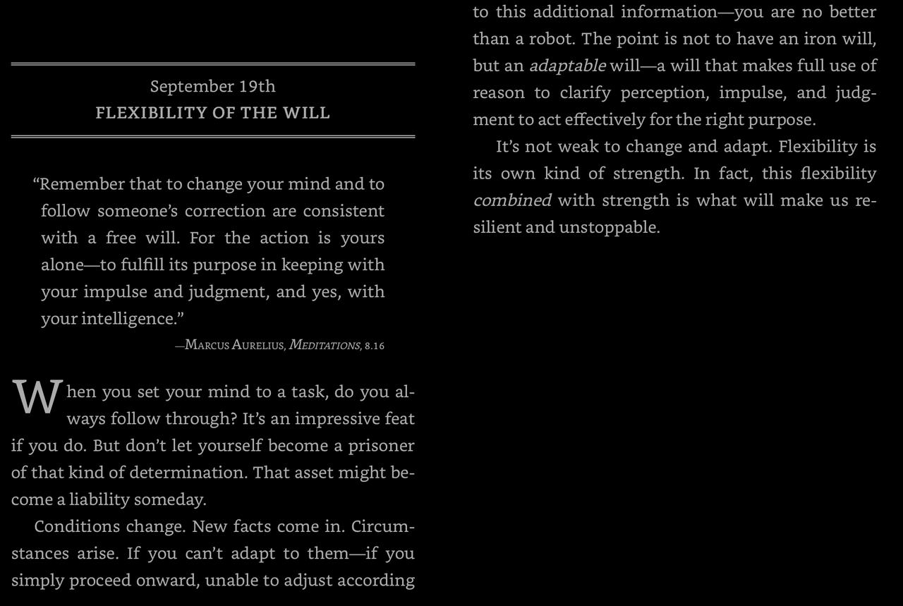 The September 19 entry of The Daily Stoic