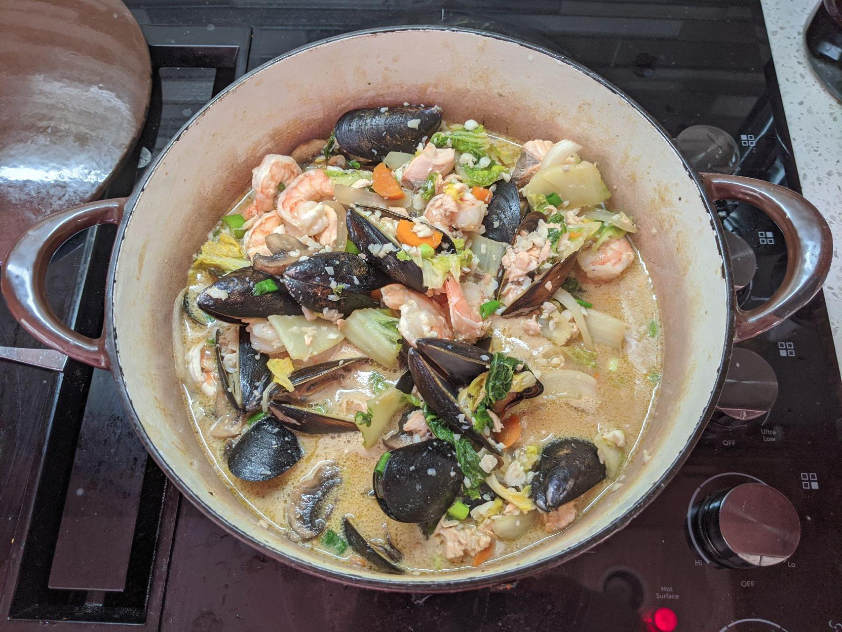 Big bowl of fish and Yano curry