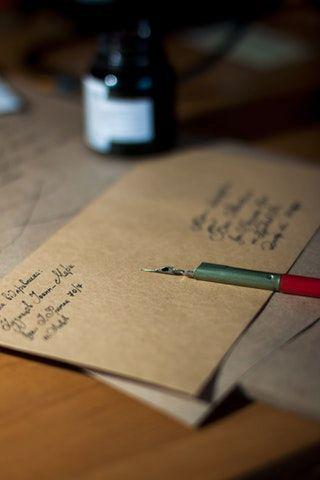 An envelope containing a handwritten letter