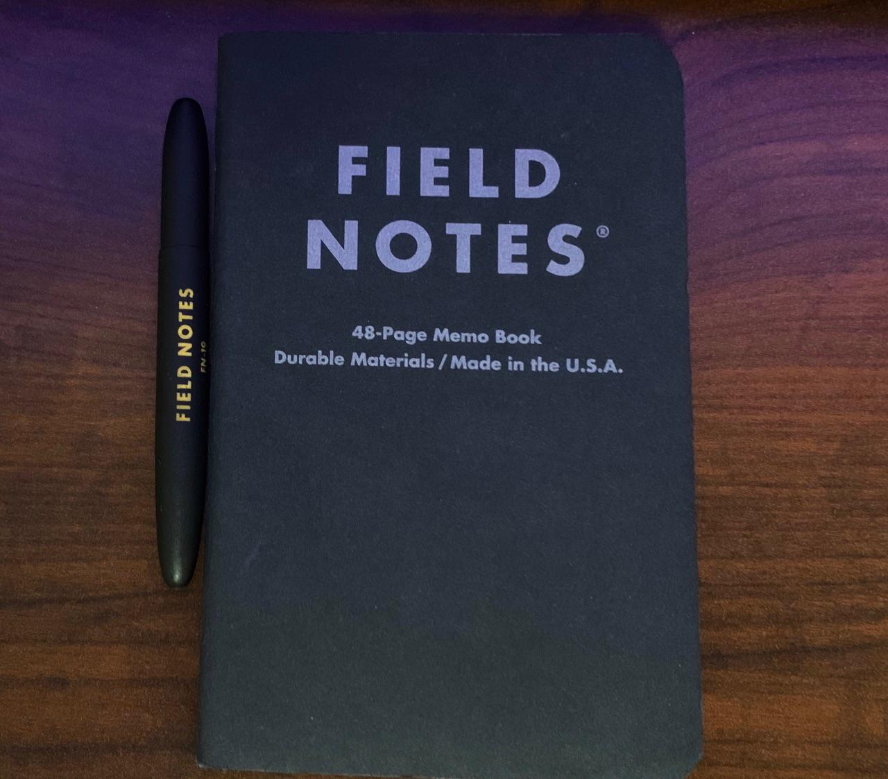 Field Notes Pocket Notebook and Fisher Bullet Space Pen