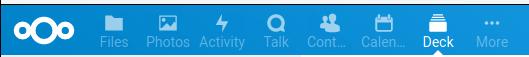 The Deck icon on Nextcloud's toolbar