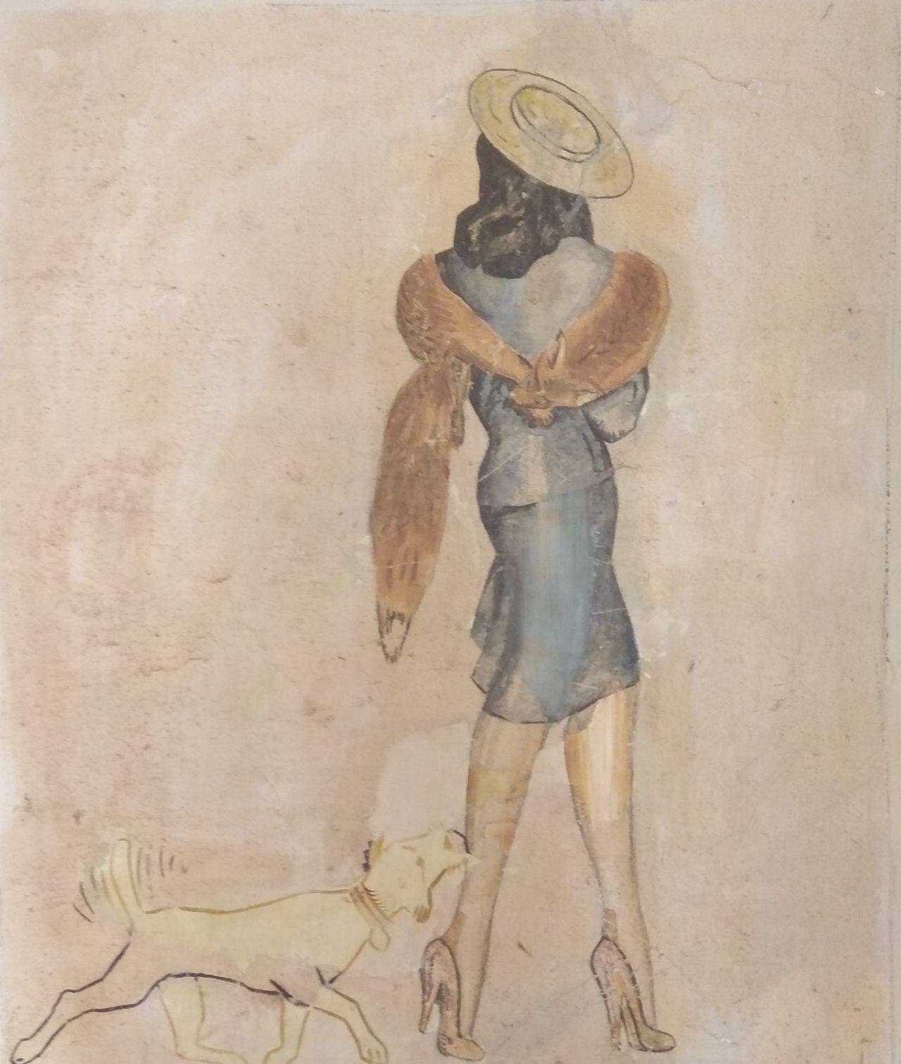 Ο σκύλος ακολουθεί την πανέμορφη κυρία