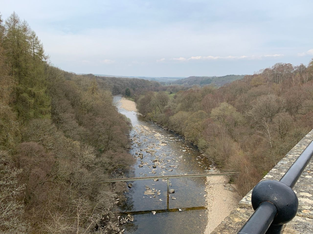 View of South Tyne river from Lambley viaduct